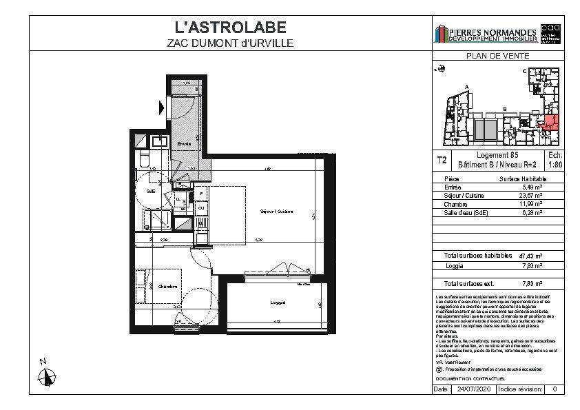Appartement à vendre 2 47.83m2 à Le Havre plan-1