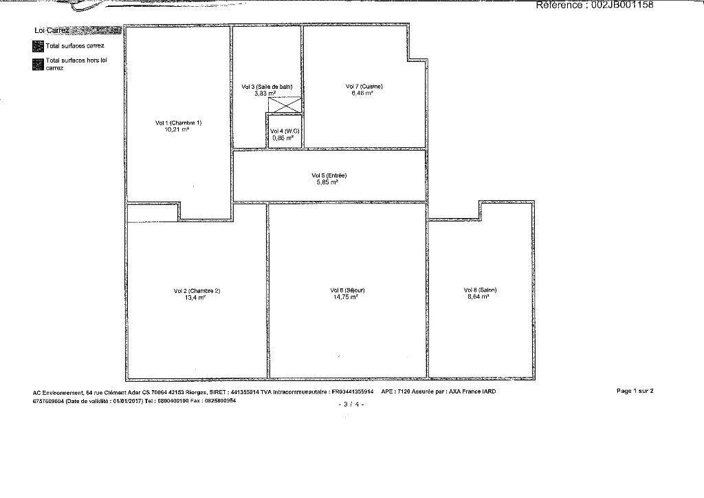Appartement à vendre 64m2 à Lyon 8