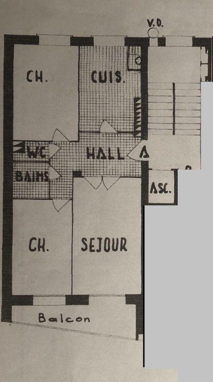 Appartement à vendre 3 61.1m2 à Lyon 8 plan-1