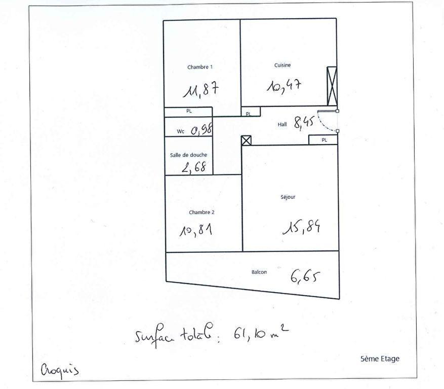 Appartement à vendre 3 61.1m2 à Lyon 8 plan-2