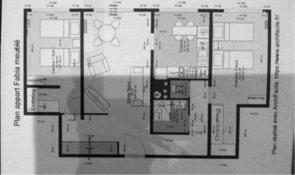 Appartement à louer 2 56.69m2 à Lyon 8 plan-1