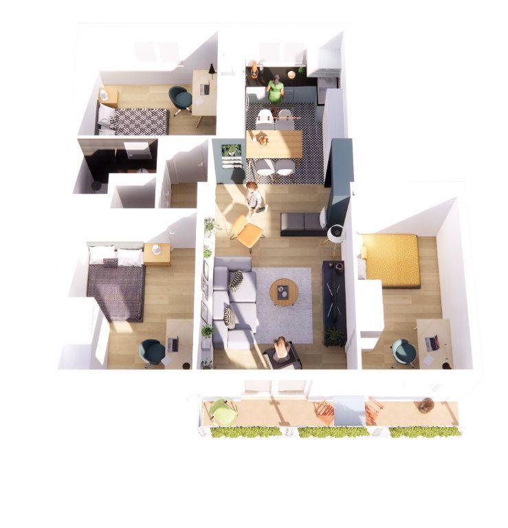 Appartement à vendre 4 64m2 à Vénissieux vignette-3