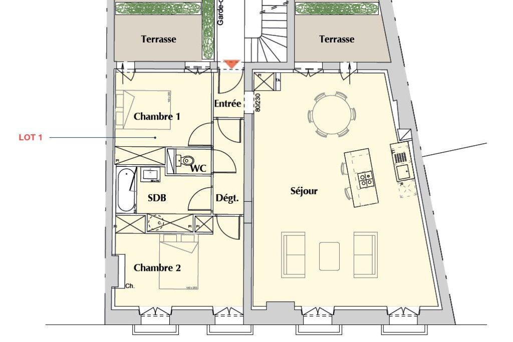 Appartement à vendre 3 86m2 à Bordeaux vignette-1