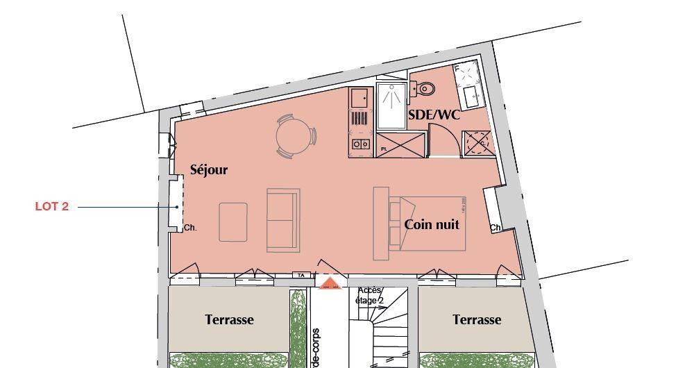 Appartement à vendre 1 39m2 à Bordeaux vignette-1