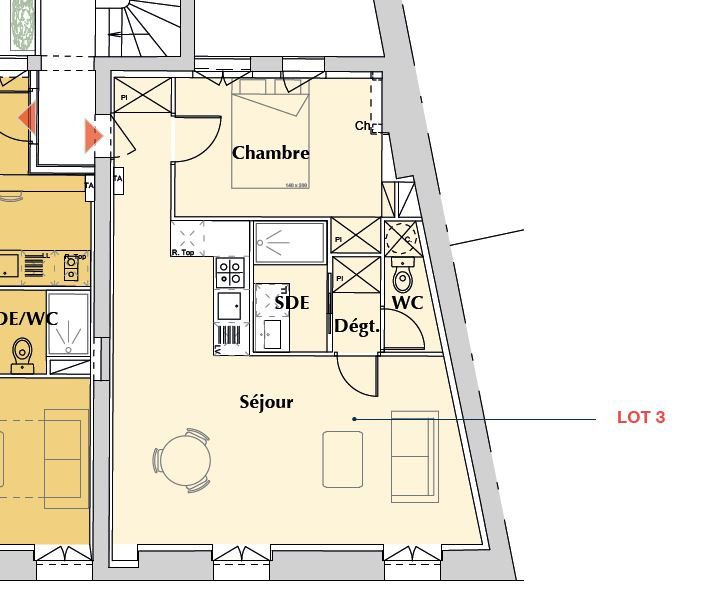 Appartement à vendre 2 46.5m2 à Bordeaux vignette-2