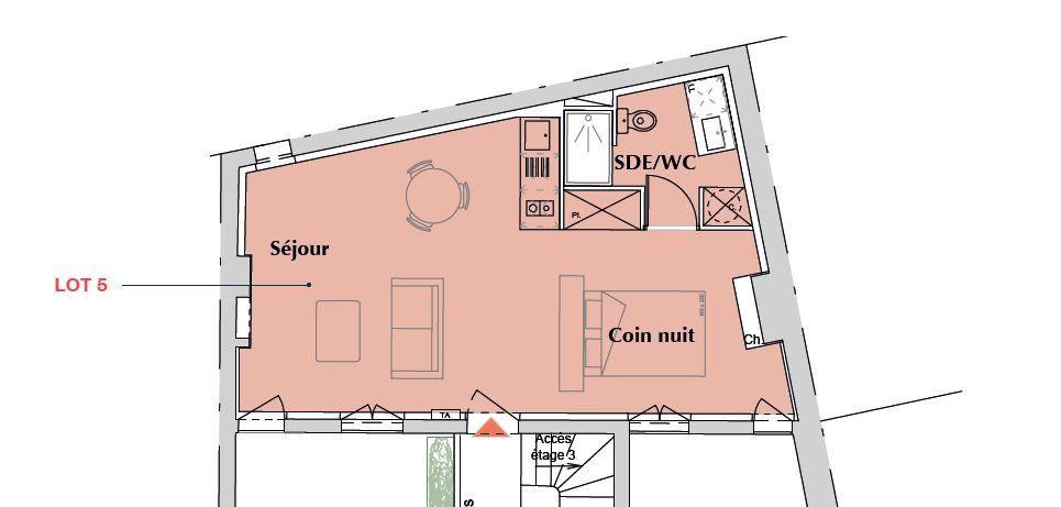 Appartement à vendre 1 39.2m2 à Bordeaux vignette-1