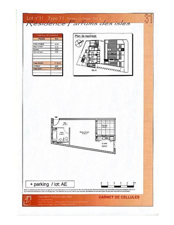 Appartement à vendre 1 31m2 à Saint-Denis plan-1
