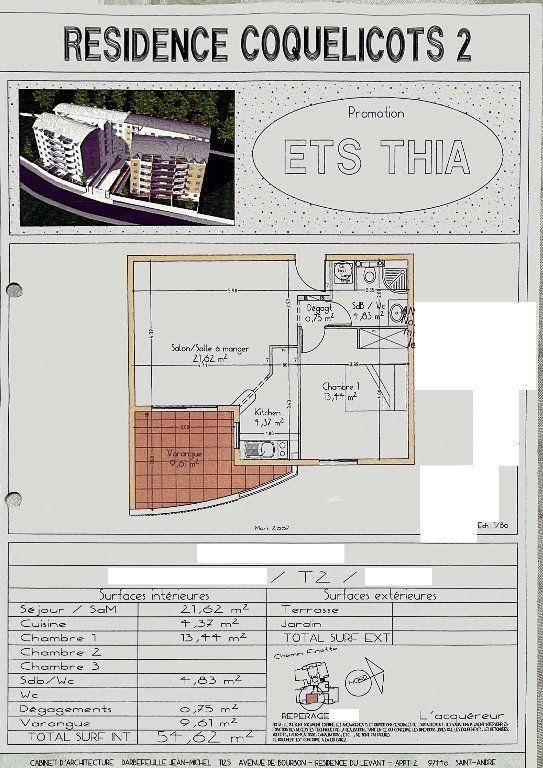 Appartement à vendre 2 45m2 à Saint-Denis vignette-2