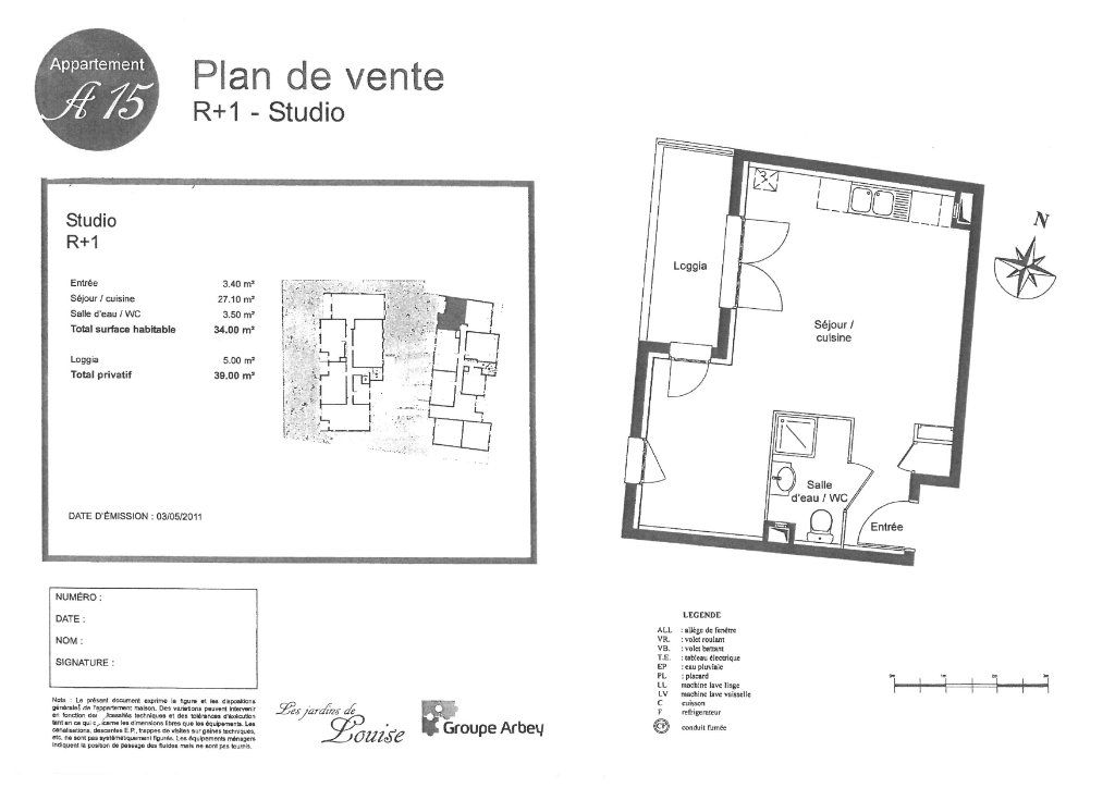 Appartement à louer 1 33.42m2 à Lisses vignette-5