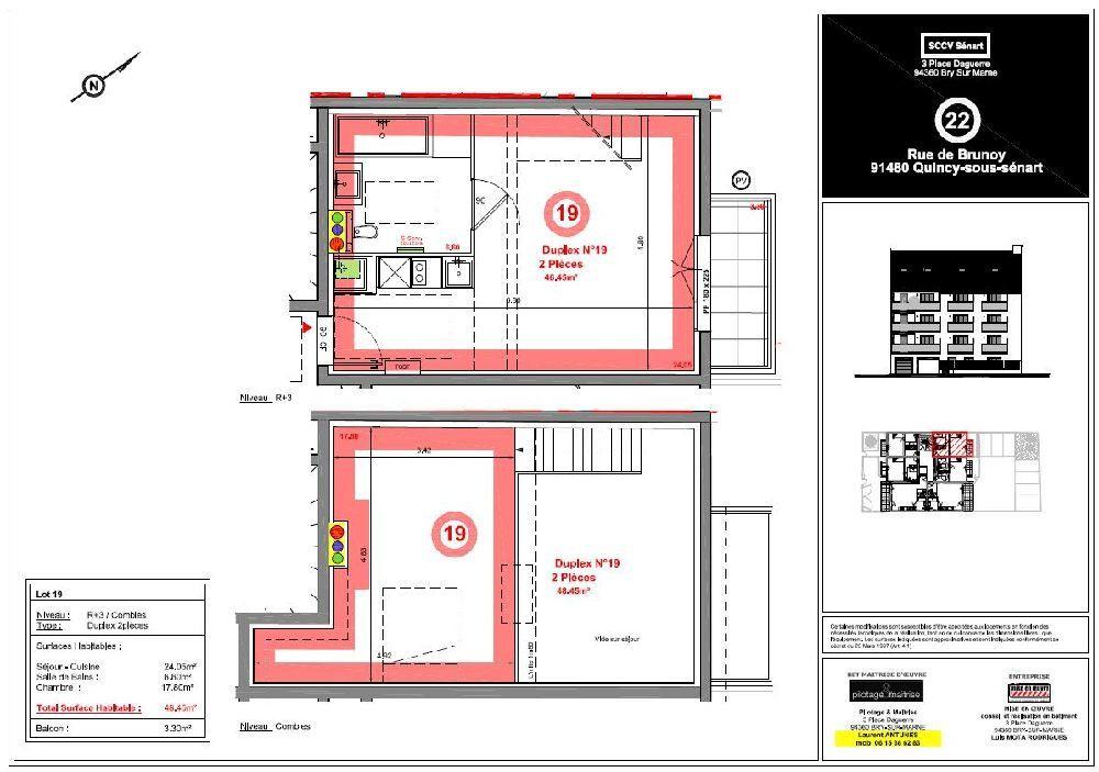 Appartement à louer 2 48.45m2 à Quincy-sous-Sénart vignette-5