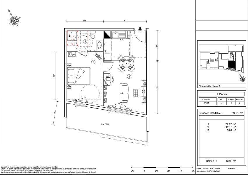 Appartement à louer 2 39.05m2 à Ris-Orangis vignette-3