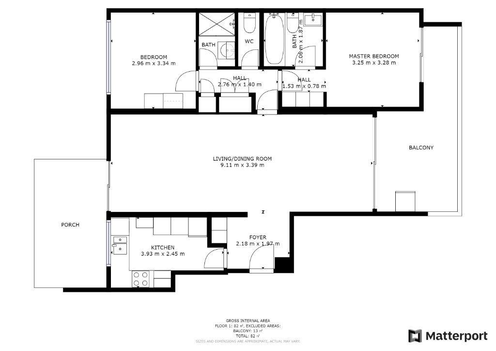 Appartement à vendre 4 77.05m2 à Antibes plan-1