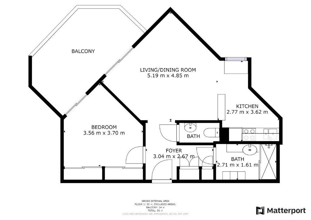 Appartement à vendre 2 49m2 à Juan-les-Pins - Antibes plan-1