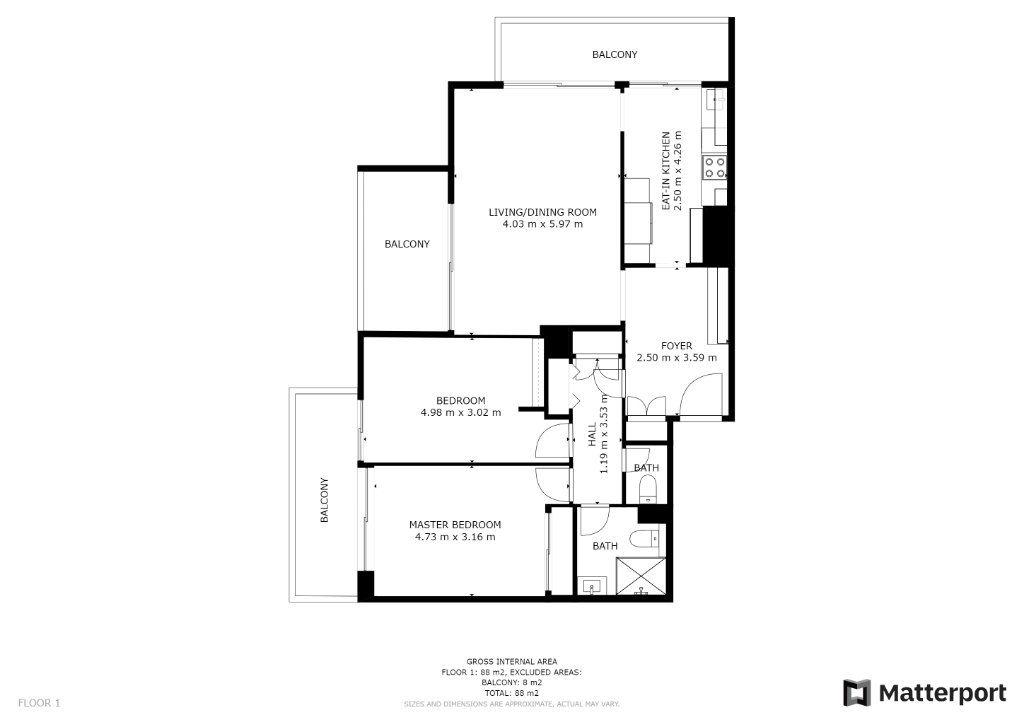 Appartement à vendre 3 83m2 à Juan-les-Pins - Antibes vignette-9