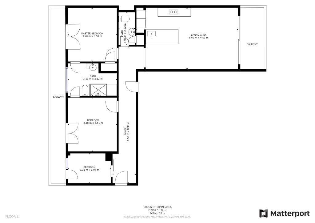 Appartement à vendre 3 73m2 à Juan-les-Pins - Antibes vignette-12