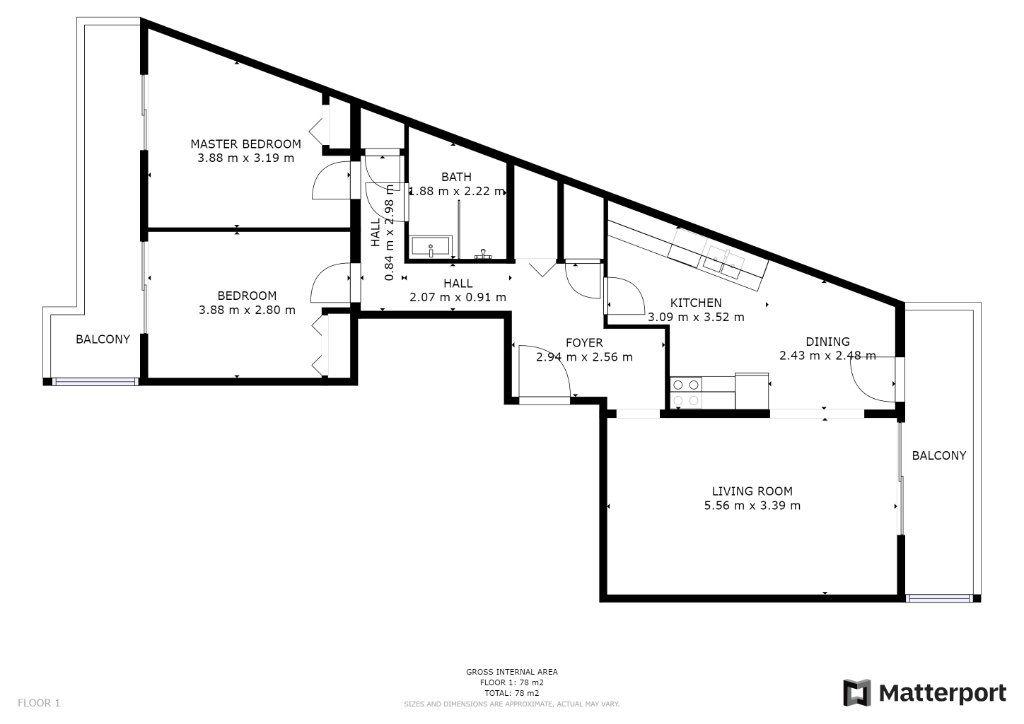 Appartement à vendre 3 73.77m2 à Juan-les-Pins - Antibes vignette-9