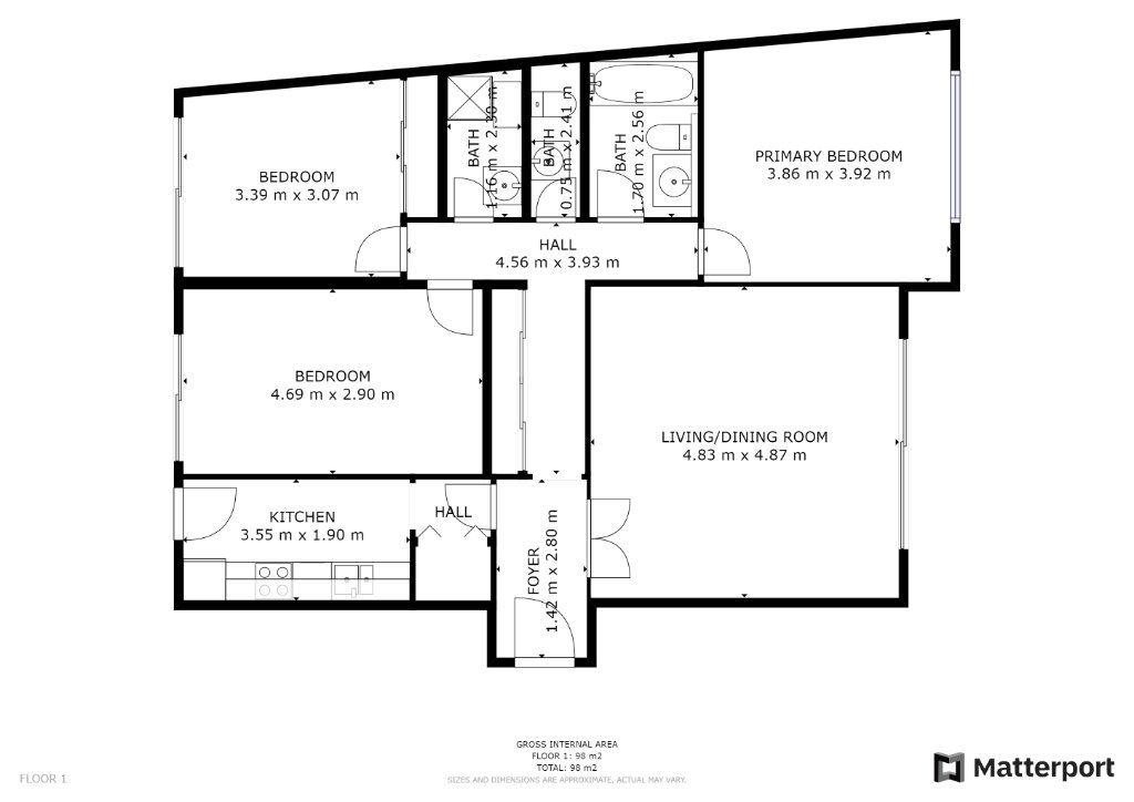 Appartement à vendre 4 89.7m2 à Juan-les-Pins - Antibes vignette-10