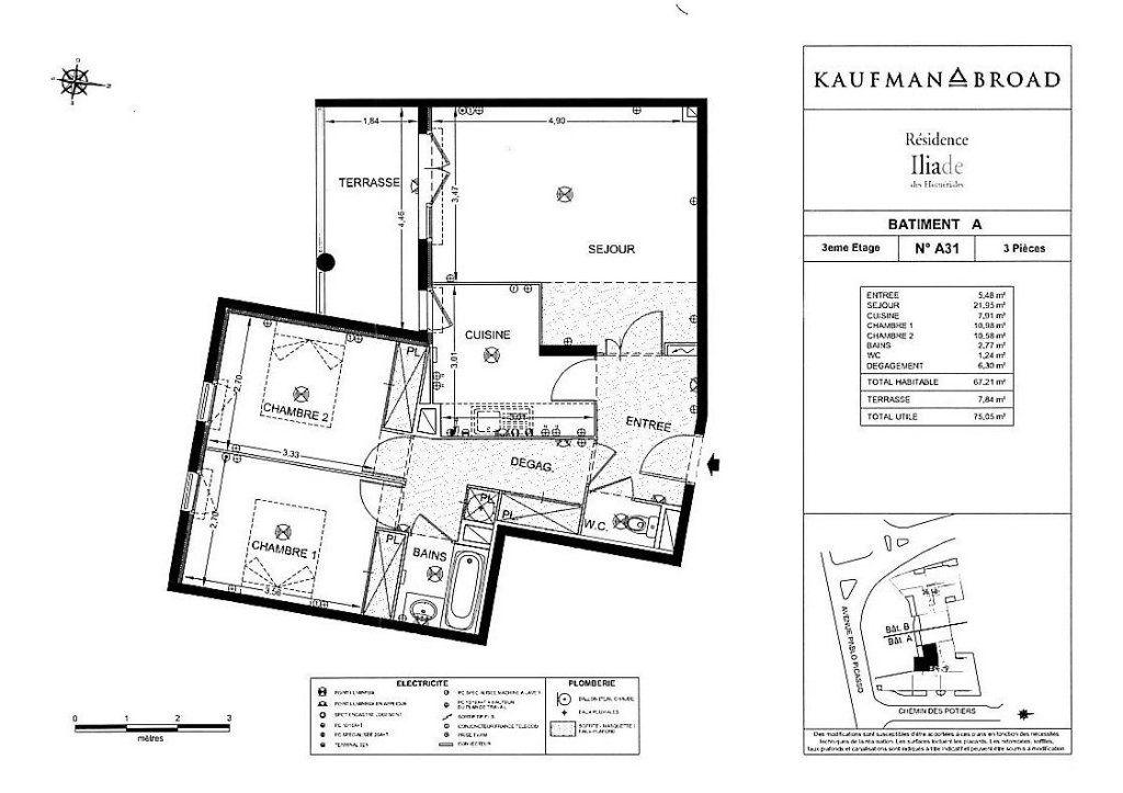 Appartement à louer 3 67.21m2 à Vallauris vignette-6