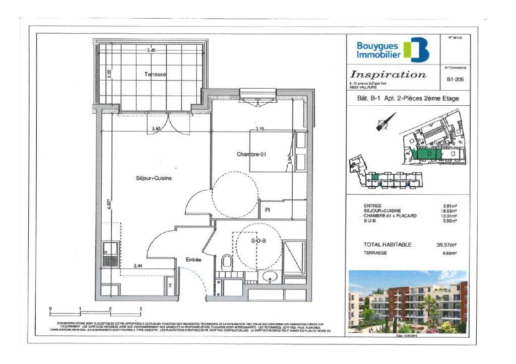 Appartement à louer 2 39.57m2 à Vallauris vignette-5