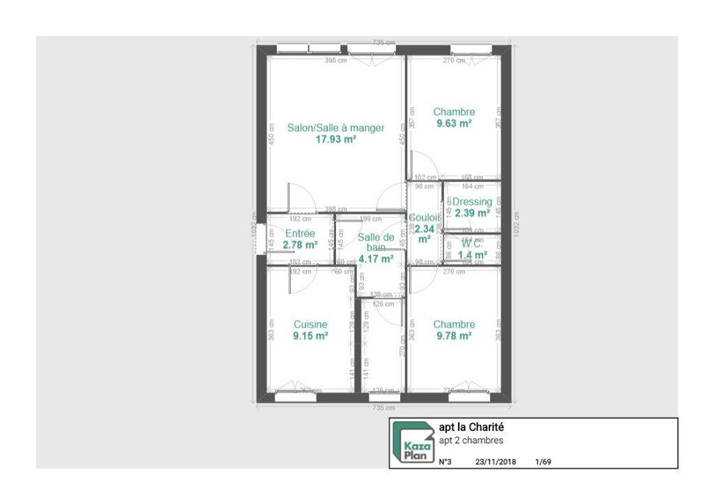 Appartement à vendre 3 59.38m2 à La Charité-sur-Loire vignette-7