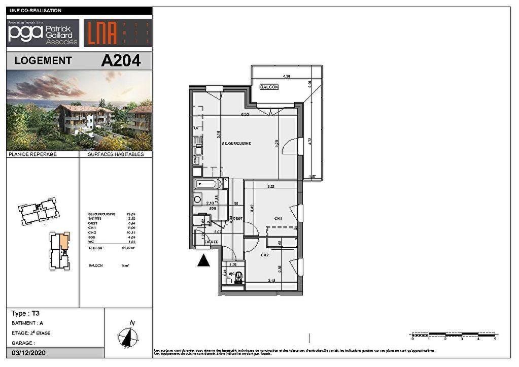 Appartement à vendre 3 65.7m2 à Messery vignette-2