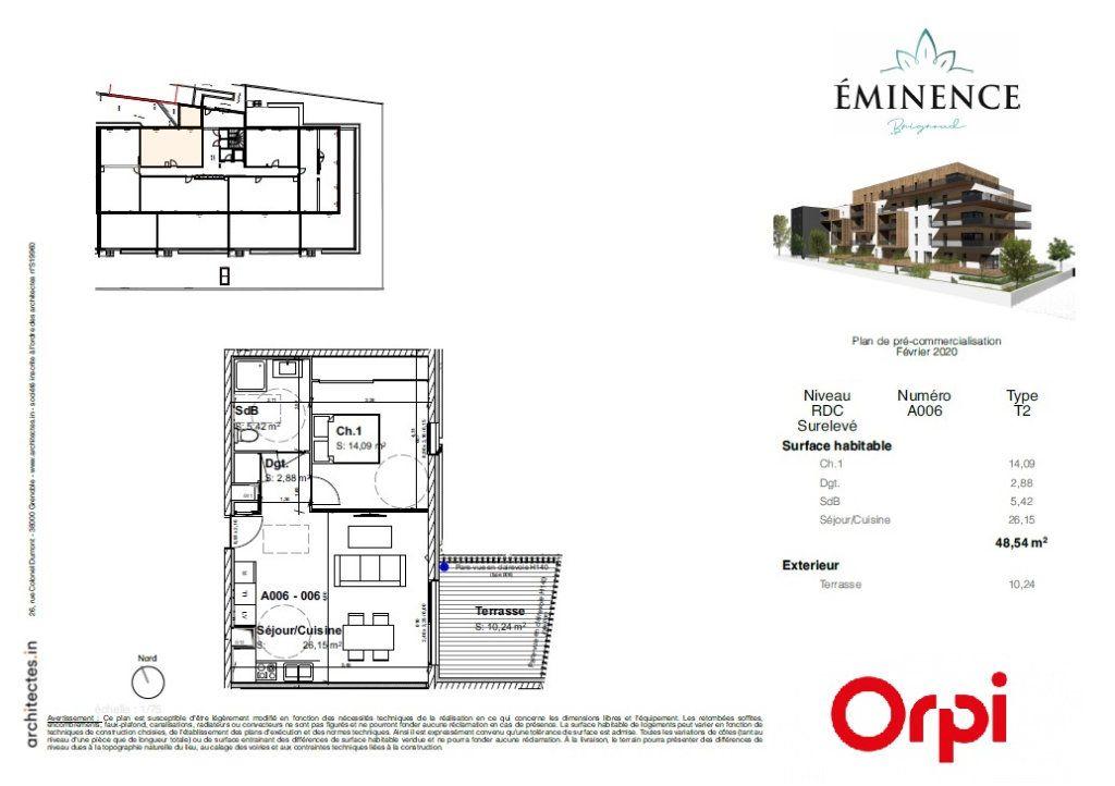 Appartement à vendre 2 48.54m2 à Villard-Bonnot vignette-2