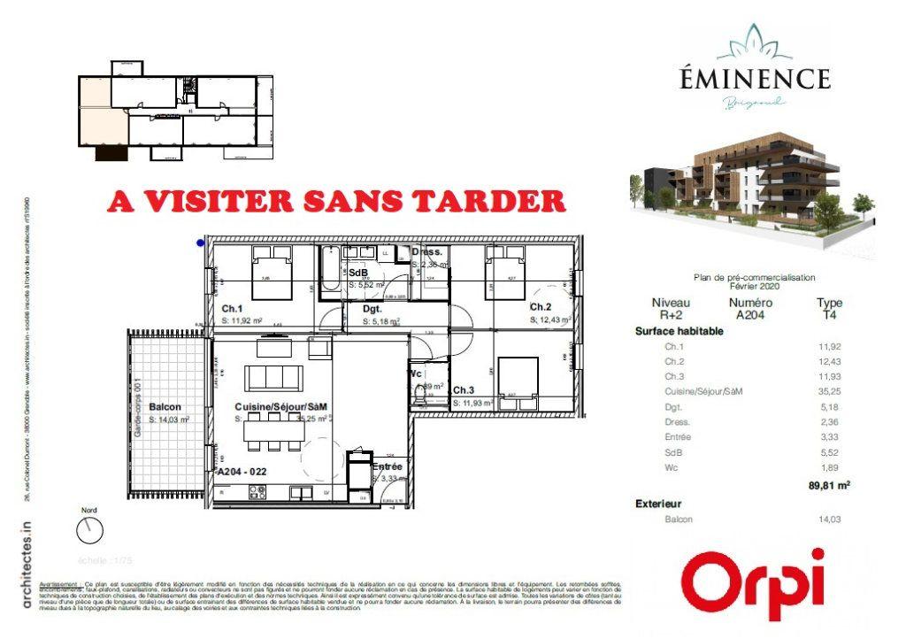Appartement à vendre 4 89.81m2 à Villard-Bonnot vignette-1