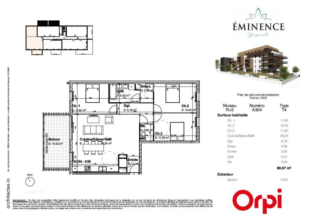 Appartement à vendre 4 89.97m2 à Villard-Bonnot vignette-2