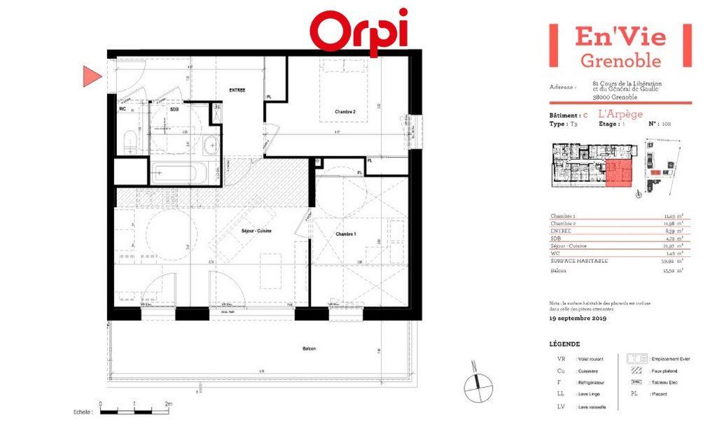 Appartement à vendre 3 59.92m2 à Grenoble vignette-2