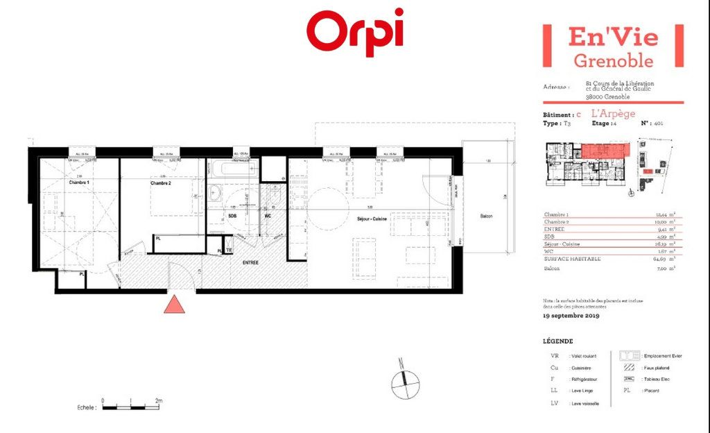 Appartement à vendre 3 64.69m2 à Grenoble vignette-3