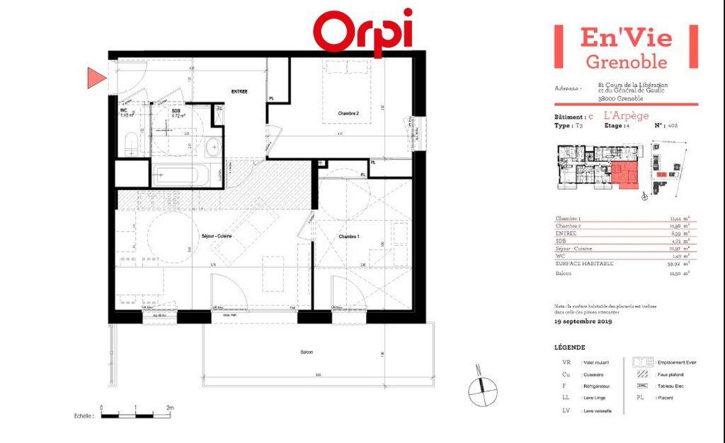 Appartement à vendre 3 59.92m2 à Grenoble vignette-3
