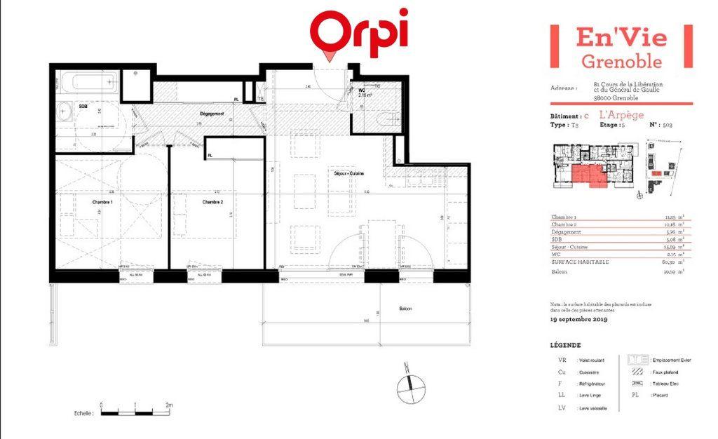 Appartement à vendre 3 60.3m2 à Grenoble vignette-3