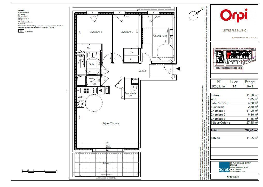 Appartement à vendre 4 78.45m2 à Crolles vignette-3