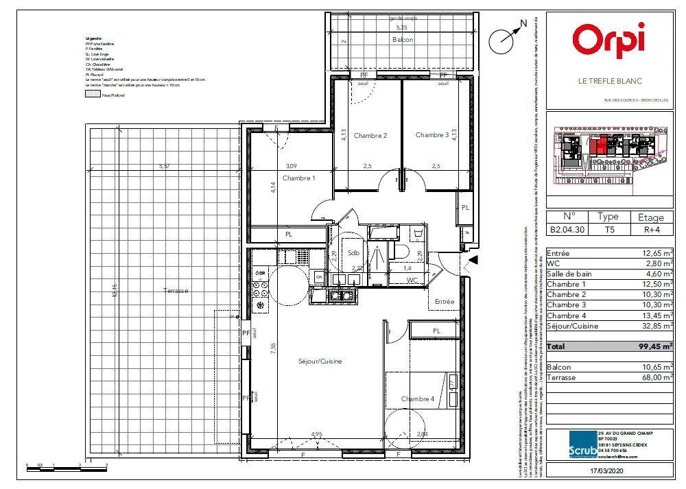 Appartement à vendre 5 99.45m2 à Crolles vignette-2