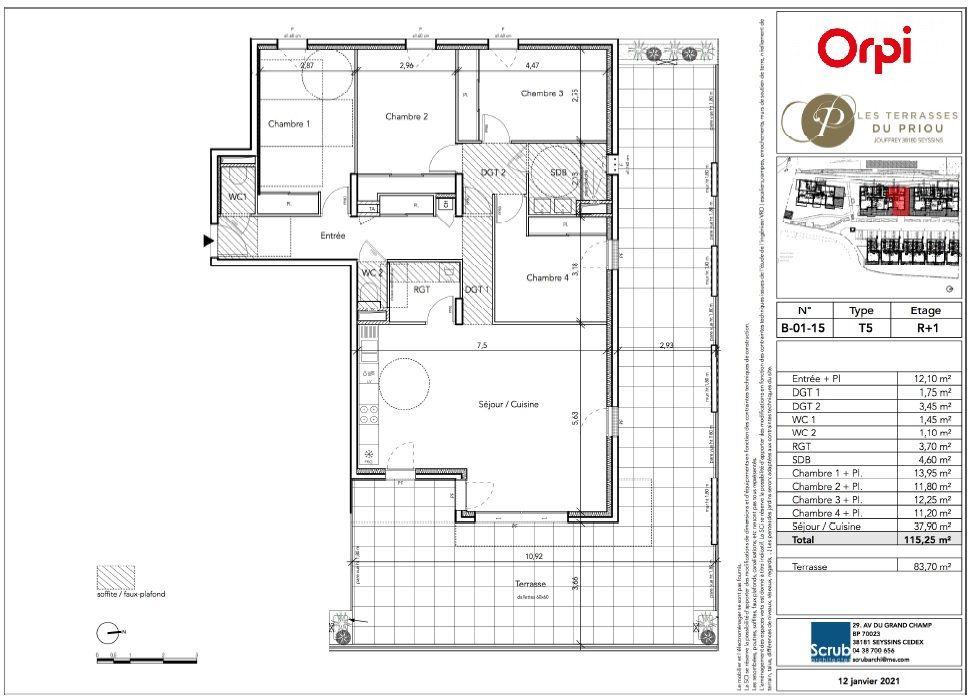 Appartement à vendre 5 115.25m2 à Seyssins vignette-2