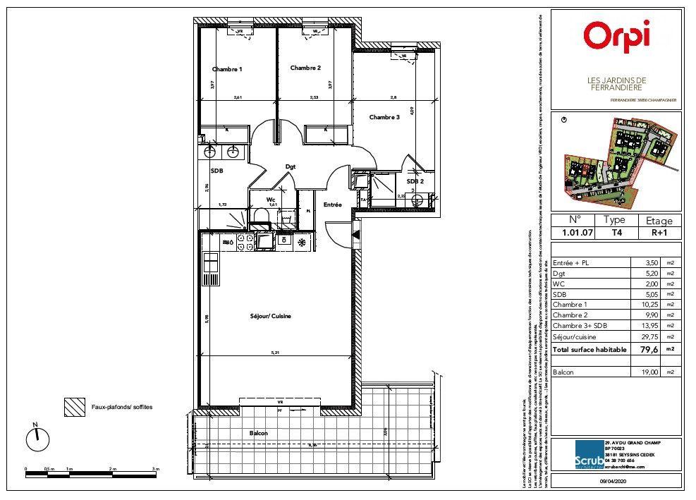 Appartement à vendre 4 79.6m2 à Champagnier vignette-3
