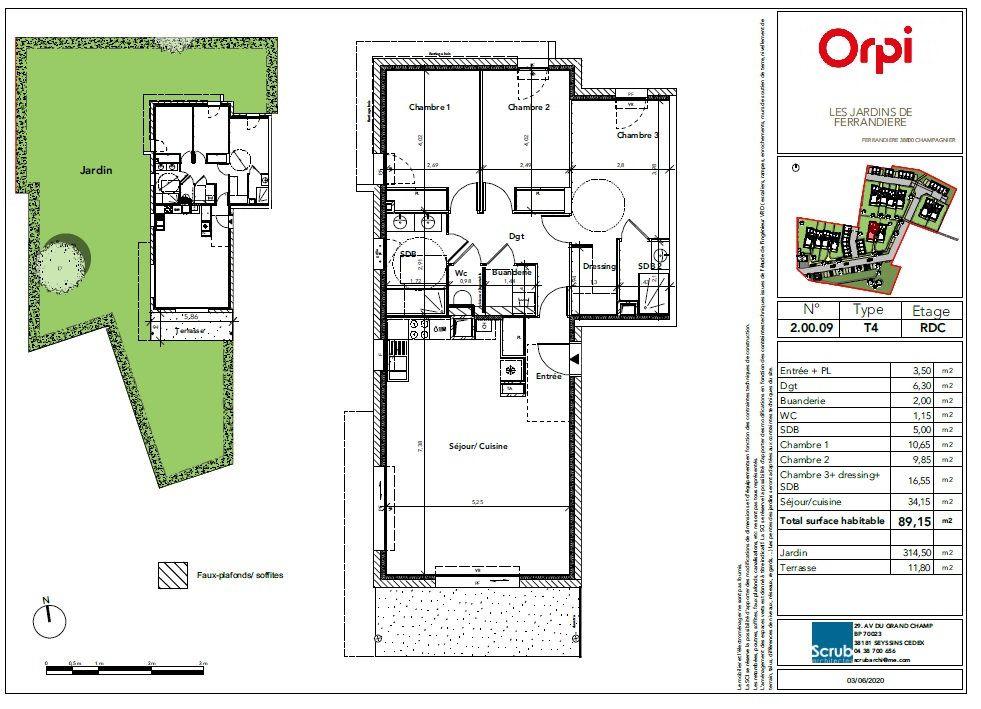 Appartement à vendre 4 89.15m2 à Champagnier vignette-3