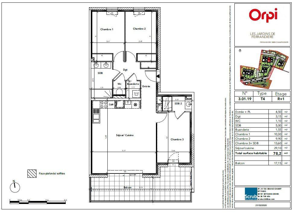 Appartement à vendre 4 78.2m2 à Champagnier vignette-2