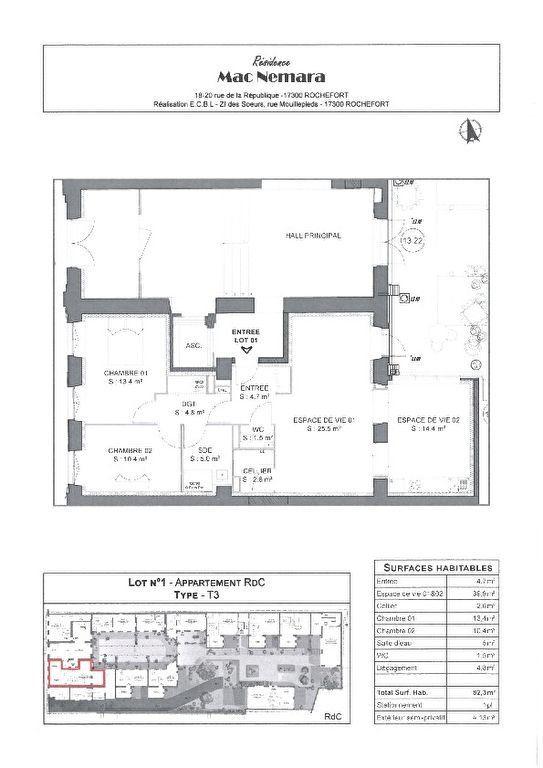 Appartement à vendre 4 86.5m2 à Rochefort plan-1