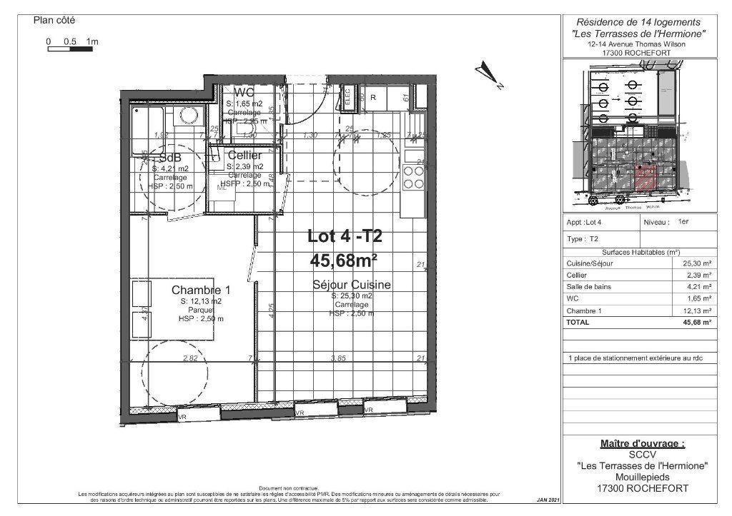 Appartement à vendre 2 45.68m2 à Rochefort vignette-3