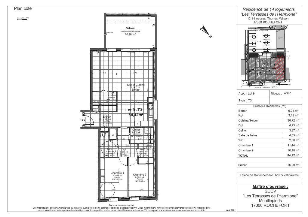 Appartement à vendre 3 84.42m2 à Rochefort vignette-4