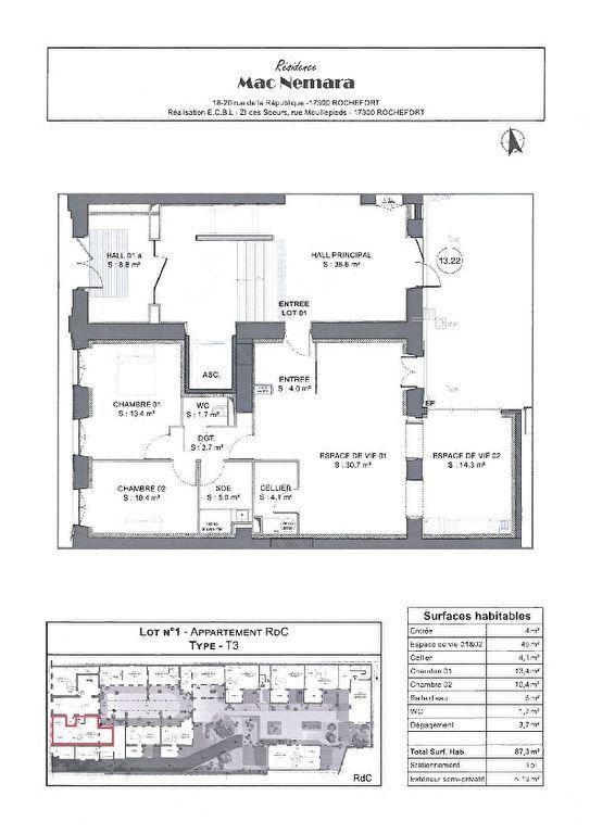 Appartement à vendre 4 86.5m2 à Rochefort vignette-4