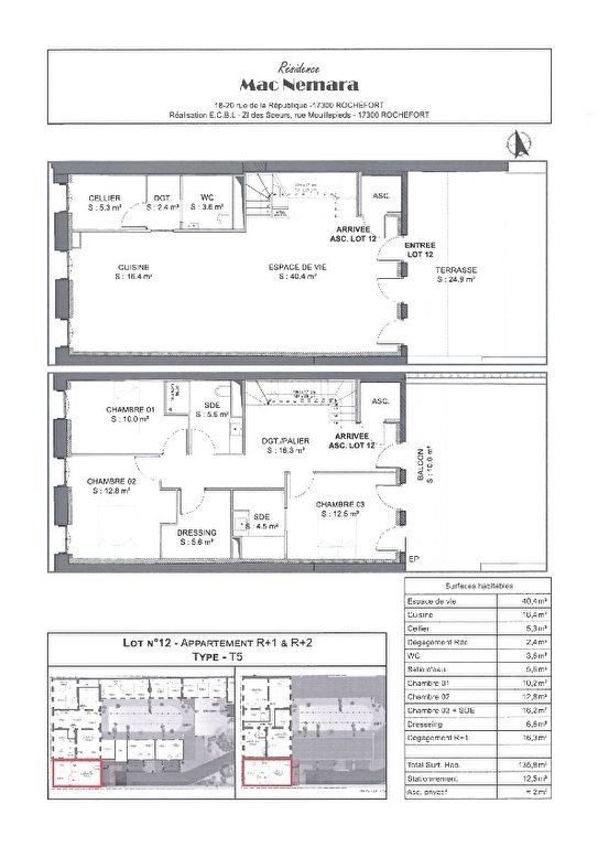 Appartement à vendre 5 135.8m2 à Rochefort vignette-3