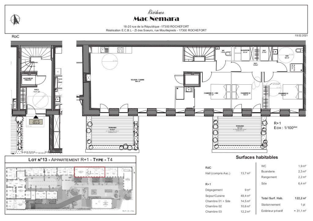 Appartement à vendre 4 122.2m2 à Rochefort vignette-6