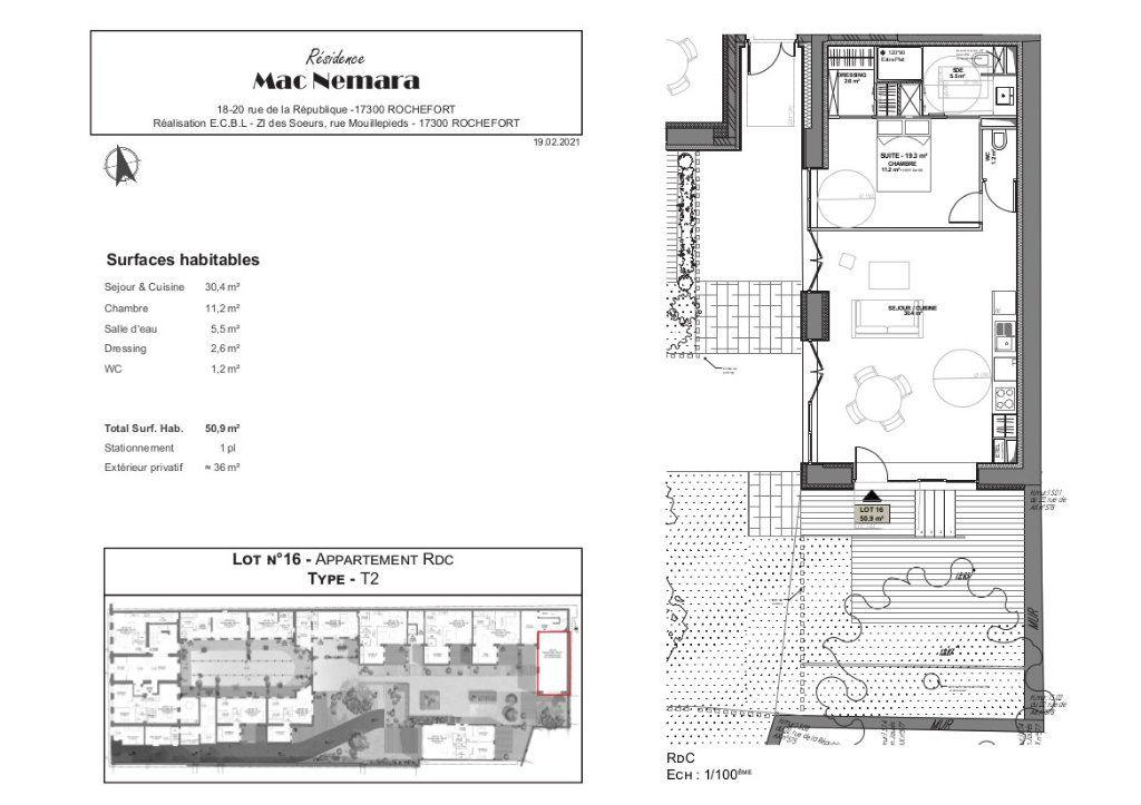 Appartement à vendre 2 50.9m2 à Rochefort vignette-6