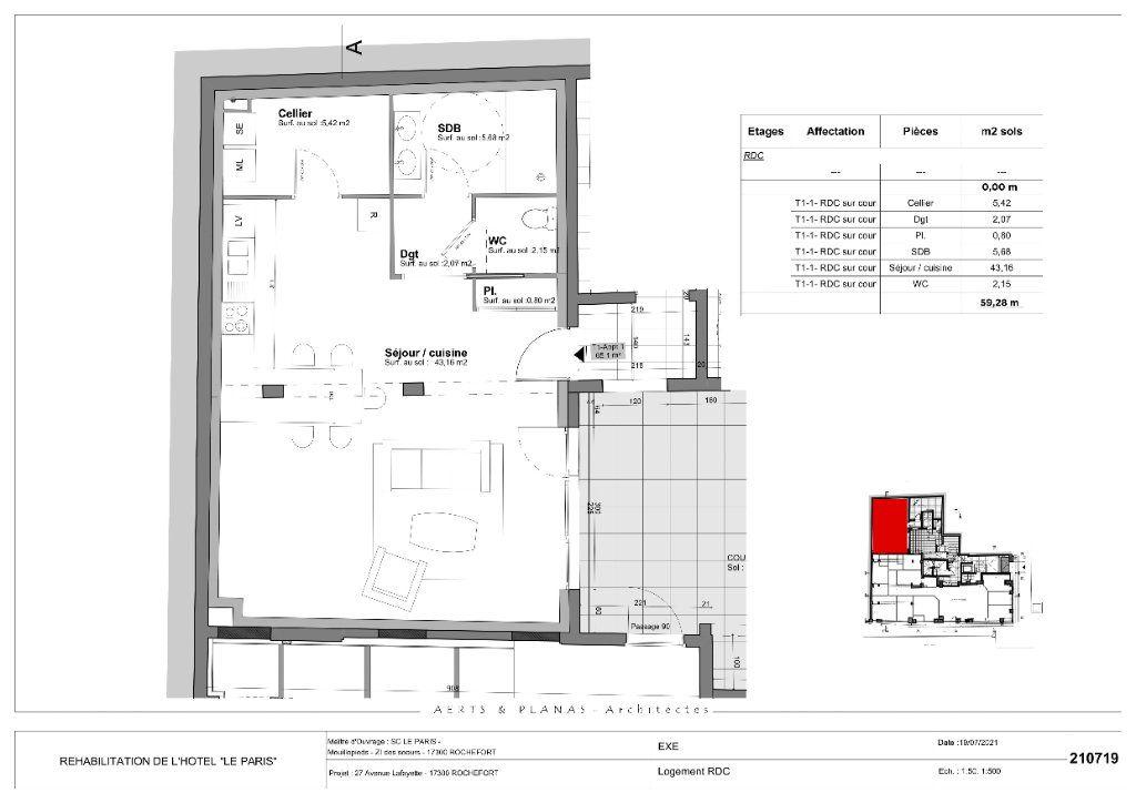 Appartement à vendre 1 60m2 à Rochefort vignette-3