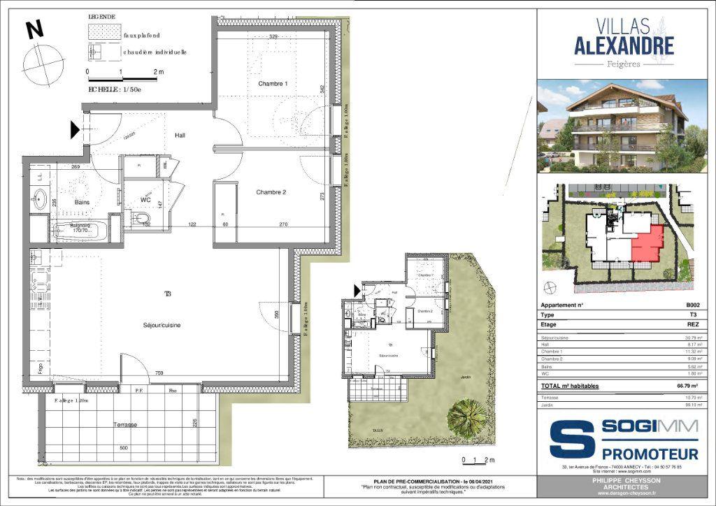 Appartement à vendre 3 66m2 à Feigères vignette-2