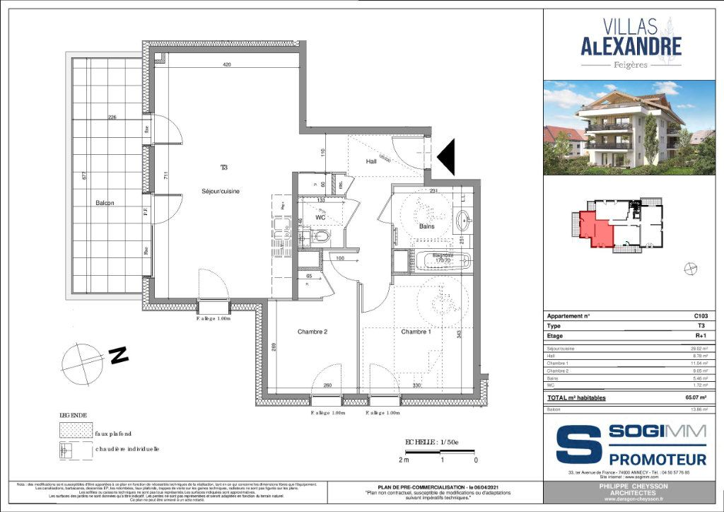 Appartement à vendre 3 65m2 à Feigères vignette-3