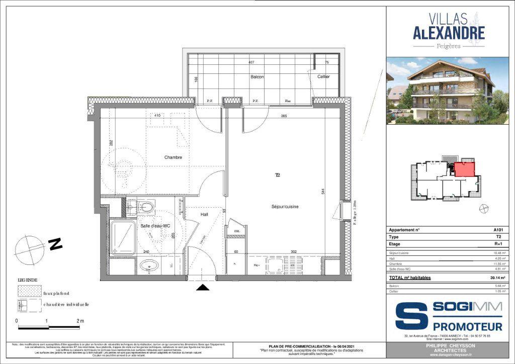 Appartement à vendre 2 39m2 à Feigères vignette-3
