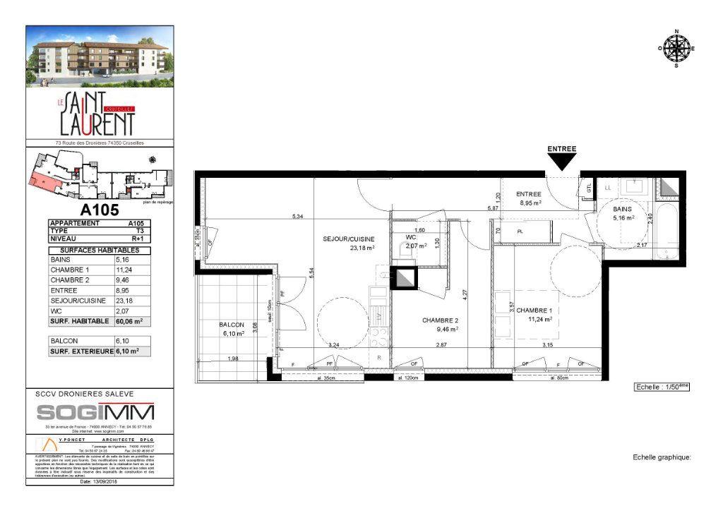 Appartement à louer 3 60.06m2 à Cruseilles vignette-3